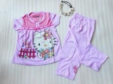 Model Baju Tidur/Piyama Anak Perempuan Motif Hello Kiti Pink