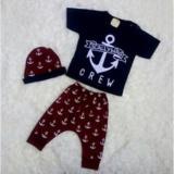 Harga Mom S Love Setelan Pendek Topi Motif Jangkar Biru Navy Mom Baby Online