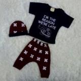 Beli Mom S Love Setelan Pendek Topi Motif Turtle Biru Navy Mom Baby Online