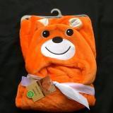 Beli Mombaby Selimut Topi Double Fleece Selimut Hoodie 3D Hoodie Blanket Tudung Selimut Topi Animal Beruang 02 Orange Mombaby Online