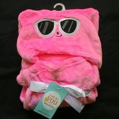 Jual Beli Mombaby Selimut Topi Double Fleece Selimut Hoodie 3D Hoodie Blanket Tudung Selimut Topi Animal Beruang Kacamata Pink Dki Jakarta