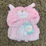 Cuci Gudang Mombaby Selimut Topi Double Fleece Selimut Hoodie 3D Hoodie Blanket Tudung Selimut Topi Animal Kelinci 01 Pink