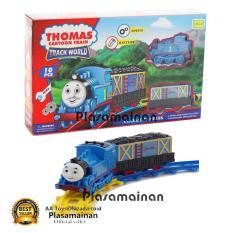Beli Momo Toys Classic Express Cartoon Train Track World Set 266B 4 Mainan Set Gerbong Kereta Api Pakai Kartu Kredit