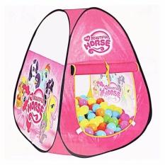 MOMO Toys Tenda Mainan Anak Segitiga Karakter Little Pony - Mainan Tenda Anak Berkarakter