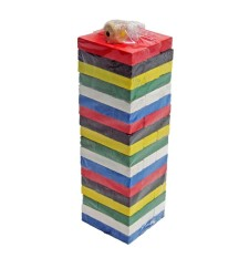 MOMO Toys Wooden Wiss Toy Jenga kayu Warna Kecil - Uno Stacko Kayu Wiss Toys