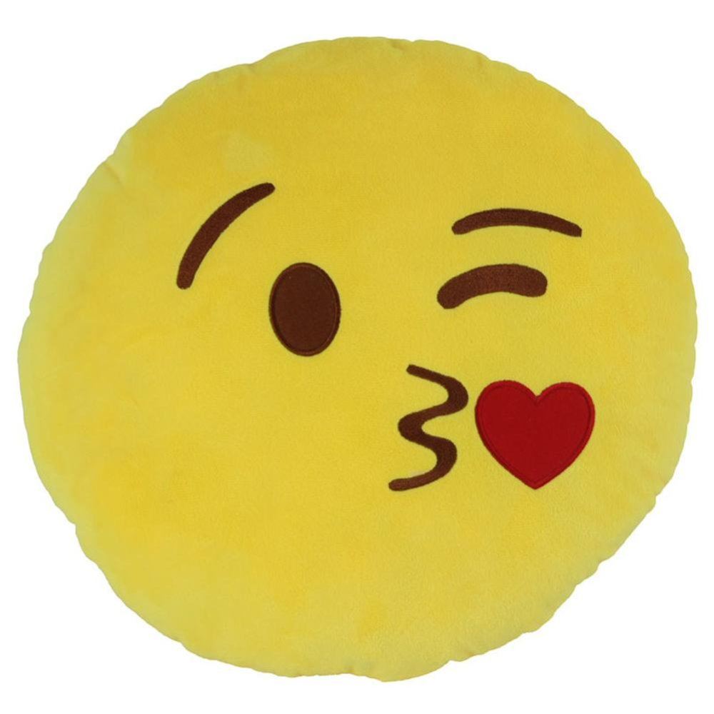 Moonar Emoji Emoticon Gantungan Kunci Gantungan Kunci Tali Cushion Toy (Kissing)-Intl