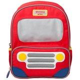 Moosca Kids Bus Backpack Tas Ransel Anak Amazing Red Asli