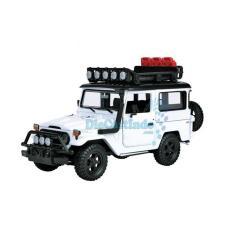 Motormax - Toyota Fj40 Land Cruiser Off Road- Putih - Skala 1:24 - D595C7 - Original Asli