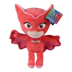 Film PJ Masker Kartun Piyama Mask Plush boneka Action Figure Amaya Owlette Greg Gekko boneka boneka Mainan-Merah bertopeng man
