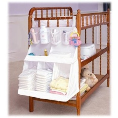 Multifunction Pockets Baby Toy Cloth Bedside Caddy Nylon Hang Storage Bag, Size: 63 x