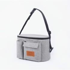 Multifungsi Mummy Tas Ibu dan Anak Anak-anak Trolley Storage Bag Keluar dari Tas Kosmetik Handbags9 (Grey) -Intl