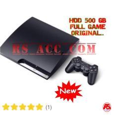 Murah !!! Playstation Ps3 Sony Slim Hdd 500 Gb + Stick Wireless + Full Game