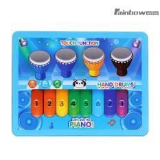 Tablet Musik Anak Layar Sentuh Piano Drum Permainan Perkembangan (Biru)-Internasional (Blue)