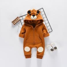 Harga Hemat Bayi Musim Semi Dan Gugur Pria Dan Wanita Beruang Romper Siam Pakaian