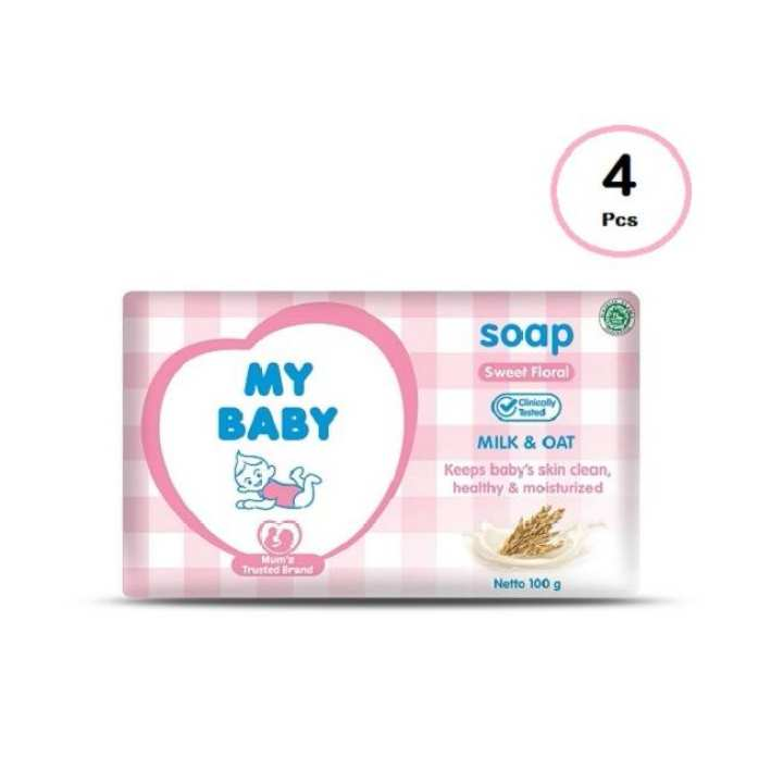 My Baby Bar Soap Sweet Floral [100g/4pcs]