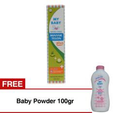 My Baby Minyak Telon Plus - 150ml - Isi 2 + Gratis Baby Powder - 100gr