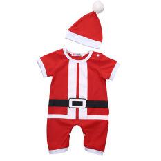 Jual Nebworn Bayi Laki Laki Anak Perempuan Santa Romper Bodysuit Hat Pakaian Grosir