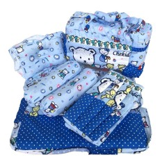 Neca Alas Tidur Bantal Guling Tas Gendongan Bayi Set 4 in 1 Chekiddo Bear