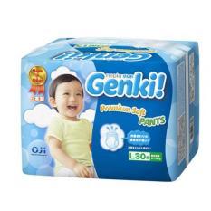 Cuci Gudang Nepia Genki New Premium Baby Diapers Soft Pants L30