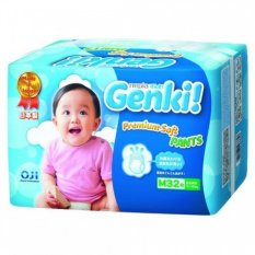 Tips Beli Nepia Genki New Premium Baby Diapers Soft Pants M32