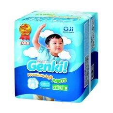 Nepia Genki New Diapers Premium Baby Diapers Soft Pants Xxl 18 Nepia Diskon 30
