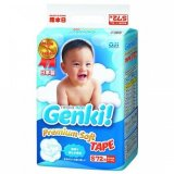 Jual Nepia Genki New Premium Baby Diapers Soft Tape S 72 Antik