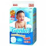 Toko Jual Nepia Genki New Premium Baby Diapers Soft Tape S 72