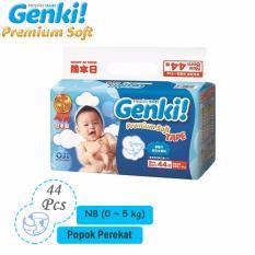 Harga Nepia Genki Premium Baby Diapers Soft Tape Nb 44 … Nb Branded