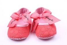 Harga New Baby Shoes Bow Princess Shoes Baby Shoes Sch**L Shoes 1 Years Old 1505 Pink Intl Baru Murah