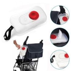 New Cute Baby Wipes Wipes Nyaman Transportasi Portabel Kotak Kursi Roda Di Luar Ruangan Kotak Transparan-Putih-Intl