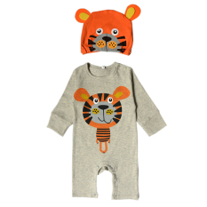 Baru Fashion Kartun Panjang Lengan Bayi Jumper dengan Hat-tiger-Intl