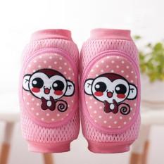Tips Beli Baru Kualitas Tinggi Kartun Keselamatan Katun Bantal Lutut Bayi Merangkak Pelindung Anak Anak Kneecaps Anak Anak Pendek Lutut Pad Bayi Leg Warmers Monyet Pink Intl Yang Bagus