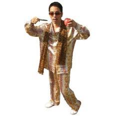 NEW HOT! PPAP MV Talas Jepang Piko-kinerja Syal Macan Tutul Rak Celana Kostum Dewasa Kostum Cosplay Penuh Pakaian Etnis- Internasional