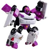 New Mainan Tobot Mini W Transform Robocar Putih Ungu Murah