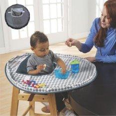 Baru Melindungi Bayi Makan untuk Mencegah Bayi Membuang Hal-hal Bahan Kain Tahan Air untuk Makan Kursi Kursi Booster Kursi Makan Bayi Mat Baby-Intl Hanyu