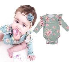Baru Lahir Bayi Gadis Bunga Baju Monyet Bodysuit Jumpsuit Pakaian Anak-anak Sunsuit Pakaian-