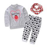Harga Jabang Bayi Perempuan Maupun Anak Laki Laki Mencintai Bayi Baju Bayi Perempuan Baju T Shirt Nya Atas Celana Headwear 3 Buah Set Pakaian Gadis Gaun Online Tiongkok