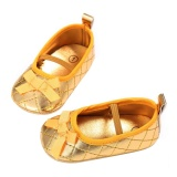 Toko Newborn Baby G*rl Shoes First Walkers Bow Baby Flat Shoes Infantil Shoes Gold 12Cm Intl Domybestshop Tiongkok
