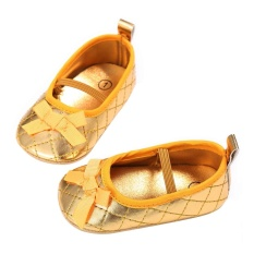 Toko Newborn Baby G*rl Shoes First Walkers Bow Baby Flat Shoes Infantil Shoes Gold 12Cm Intl Online Di Tiongkok