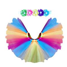 Gaun Tutu Bayi Baru Lahir + Karet Rambut (warna Pelangi)-International