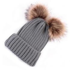 Jual Beli Online Newborn Cute Fashion Keep Warm Winter Hats Knitted Wool Hemming Hat Intl