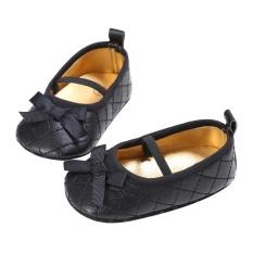 Review Pada Newborn Gadis Sepatu First Walkers Bow Bayi Sepatu Infantil Sepatu Hitam Inch 12 18 Bulan
