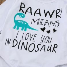 Harga Bayi Yang Baru Lahir Baby Boy G*rl Letter Cetak Romper Tops Dinosaurus Celana Pakaian Set Intl Oem Asli