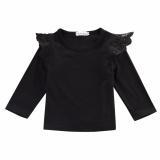 Jual Beli Bayi Baru Lahir Bayi Perempuan Lama T Shirt Blus Kasual Lengan Panjang Atasan Pakaian Hitam Intl Tiongkok