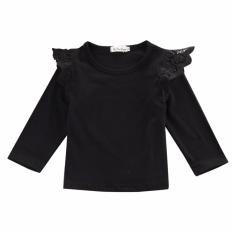 Ulasan Tentang Bayi Baru Lahir Bayi Perempuan Lama T Shirt Blus Kasual Lengan Panjang Atasan Pakaian Hitam Intl