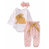 Harga Bayi Baru Lahir Bayi Perempuan Pakaian Romper Pakaian Bermain Top Celana Legging Pakaian Set Oem Terbaik