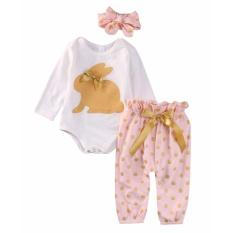 Harga Bayi Baru Lahir Bayi Perempuan Pakaian Romper Pakaian Bermain Top Celana Legging Pakaian Set Yang Bagus