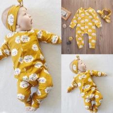 Jual Bayi Yang Baru Lahir Bayi Anak Anak Gadis Cloud Bodysuit Jumpsuit Baju Monyet Pakaian Headband 18 M Baru