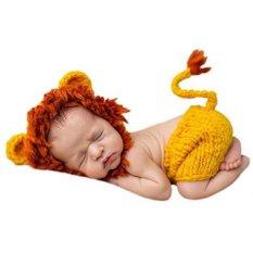 Spesifikasi Baru Lahir Fotografi Props Natal Hand Knitting Baby G*rl Boy Elf Hat Pants Pakaian Set Intl Bagus