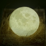 Spesifikasi Night Light Pldm 3D Printing Moon Lamp Lunar Usb Charging Nightlight Touch Control Brightness Dua Nada Diameter 5 1 Inch Intl